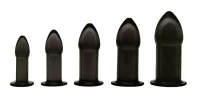 5 Piece Anal Trainer Set - Black - THE FETISH ACADEMY