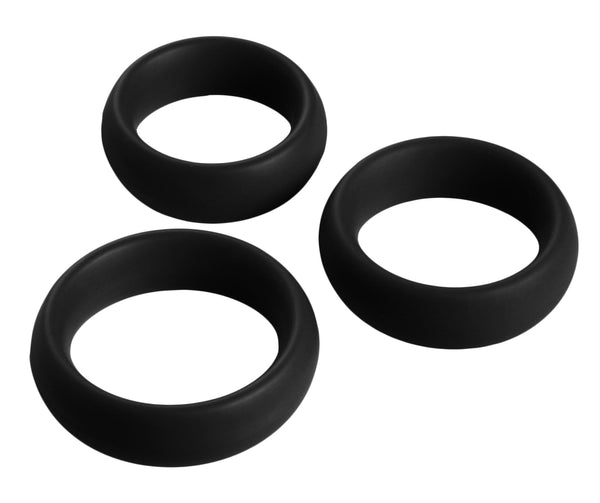 3 Piece Silicone Cock Ring Set - THE FETISH ACADEMY