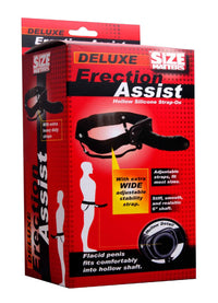 Size Matters Erection Assist Hollow Silicone Strap On - THE FETISH ACADEMY