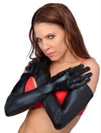 Dripping Wet Opera Length Gloves - THE FETISH ACADEMY