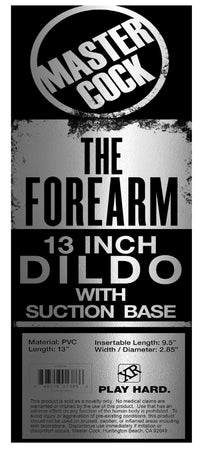 The Forearm 13 Inch Dildo with Suction Cup - THE FETISH ACADEMY