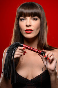 Crimson Tied Embossed Flogger - THE FETISH ACADEMY