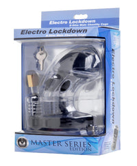 Electro Lockdown Estim Male Chastity Cage - THE FETISH ACADEMY