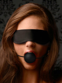 Lightweight Fleece Blindfold with Ball Gag - THE FETISH ACADEMY