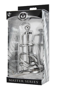 Gates of Hell Stainless Steel Adjustable Cum Through Sound Cage - THE FETISH ACADEMY