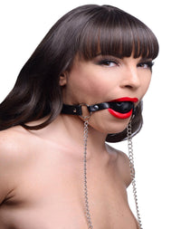 Breathable Ball Gag with Nipple Clamps - THE FETISH ACADEMY