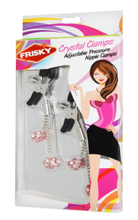 Crystal Clamps Adjustable Pressure Nipple Clamps - THE FETISH ACADEMY