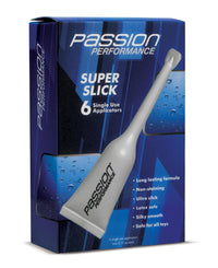Passion Performance Super Slick Gel Shooter 6 Pack - THE FETISH ACADEMY