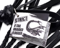 8 Tail Braided Flogger - THE FETISH ACADEMY