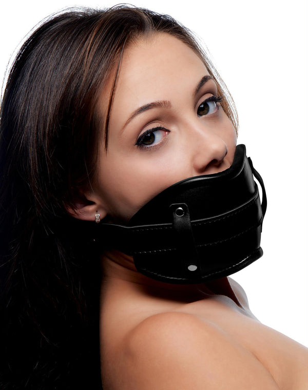 Cock Head Silicone Mouth Gag - THE FETISH ACADEMY