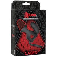 Kink Vibrating Silicone Cock Cage with Ball Strap - TFA