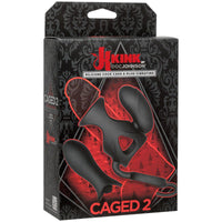 Kink Vibrating Silicone Cock Cage with Ball Strap and Dual Bullets - THE FETISH ACADEMY