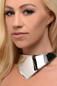 Stainless Steel Collar with Lace - THE FETISH ACADEMY