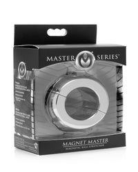 Magnet Master Stainless Steel Ball Stretcher - THE FETISH ACADEMY