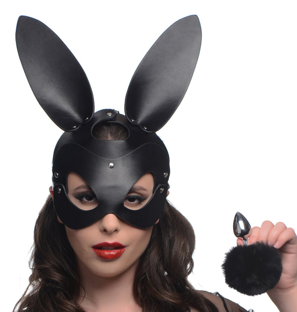 Bunny Tail Anal Plug and Mask Set - THE FETISH ACADEMY