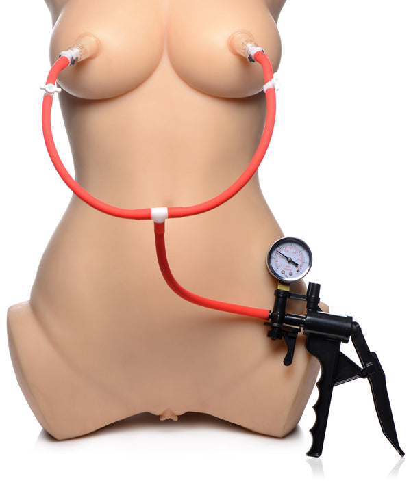 Double Suck Nipple Pump System - THE FETISH ACADEMY