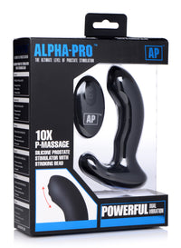 10X P-Massage Silicone Prostate Stimulator with Stroking Bead