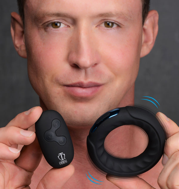Remote Control 7X Silicone Cock Ring - THE FETISH ACADEMY