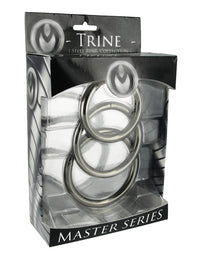 Trine Steel Ring Collection - THE FETISH ACADEMY