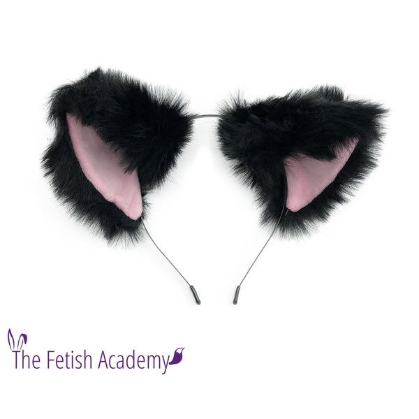 Black and Pink Wolf Ears