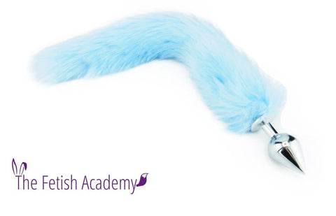 "15"" Baby Blue FAUX Fox Tail Butt Plug"