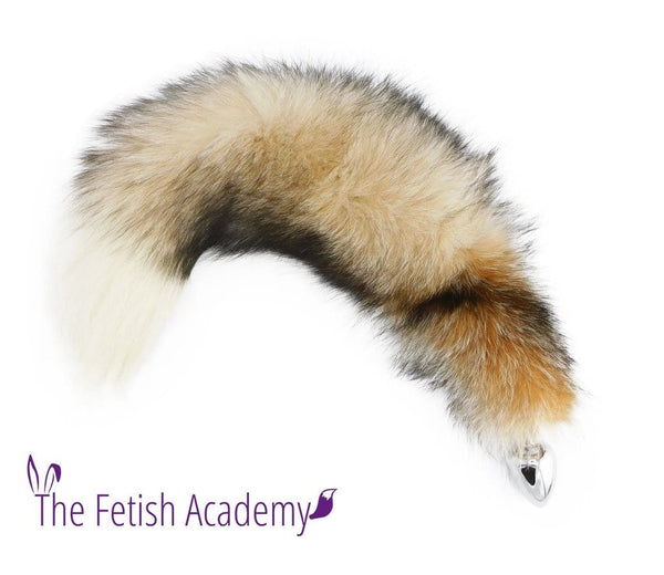 "24"" One Of A Kind Crystal Fox Tail Butt Plug - Extra Long! - THE FETISH ACADEMY"