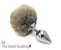 Grey Rex Rabbit Bunny Tail Butt Plug - THE FETISH ACADEMY