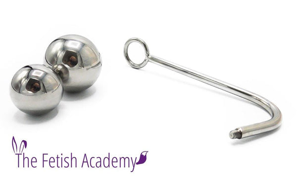 Anal Trainer Anal Hook with Removable Balls and Rope Loop - THE FETISH ACADEMY