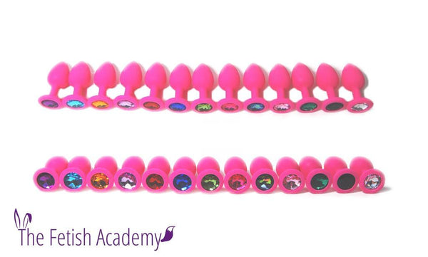 Pink Silicone Princess Jewel Butt Plug - THE FETISH ACADEMY