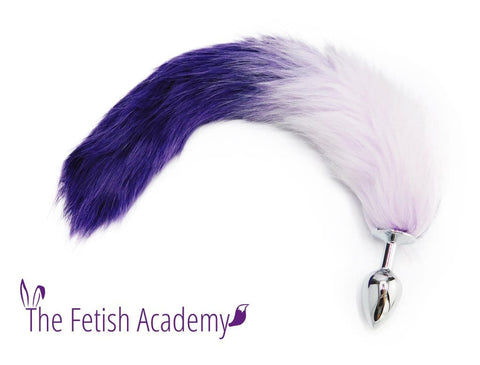 "15"" FAUX Fox Tail Butt Plug - Purple Gradient"