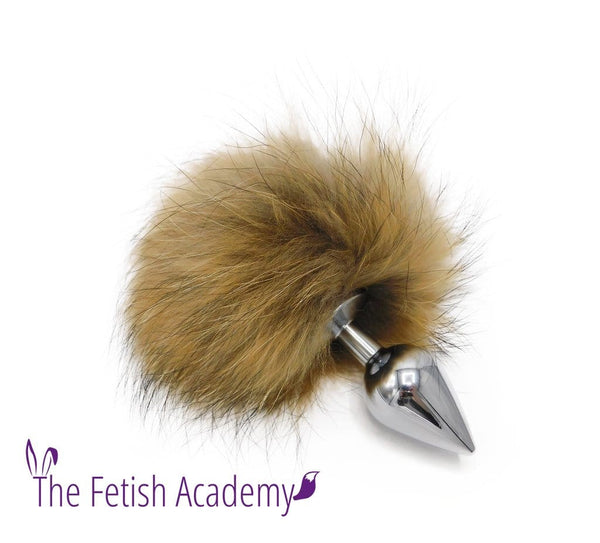 Genuine Raccoon Fur Bunny Tail Butt Plug - THE FETISH ACADEMY