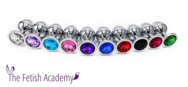 Glimmering Jeweled Stainless Steel Butt Plug - THE FETISH ACADEMY