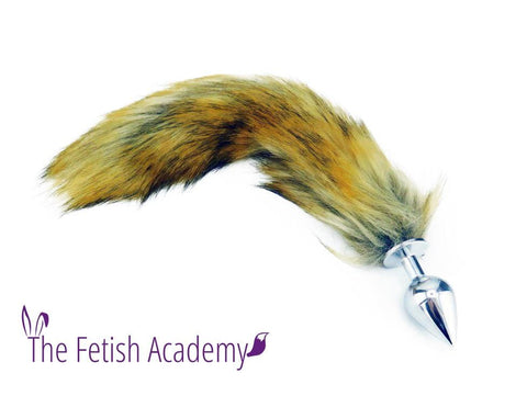 "14"" Tan FAUX Fox Tail Butt Plug"