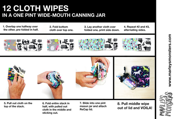 CLOTH WIPES IN JAR