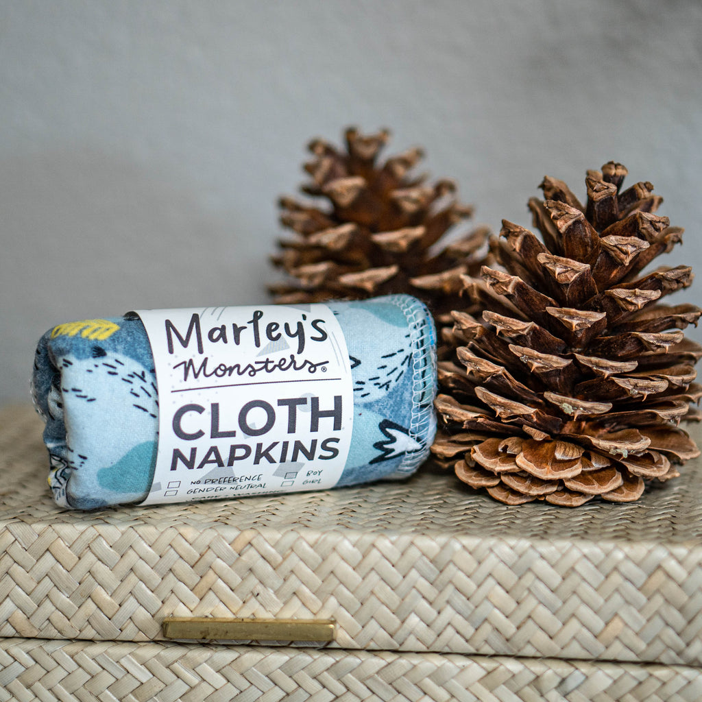 6 CLOTH NAPKINS - Winter Wonderland