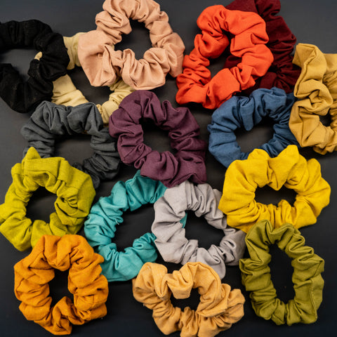 UPCYCLED SCRUNCHIES: Linen