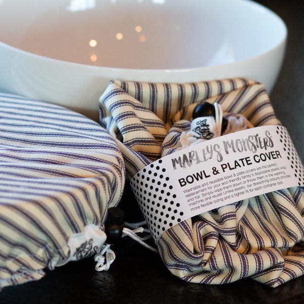 BOWL COVER BUNDLE: Striped Cotton Ticking