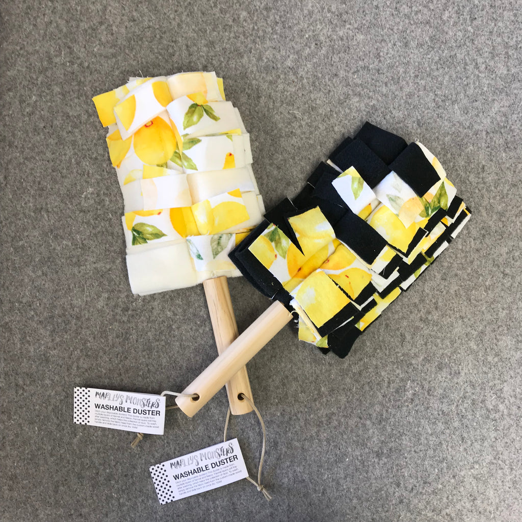 WASHABLE DUSTER: Vintage Lemons