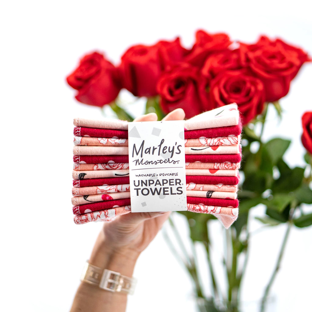 12 UNPAPER® TOWELS: Valentine's Day