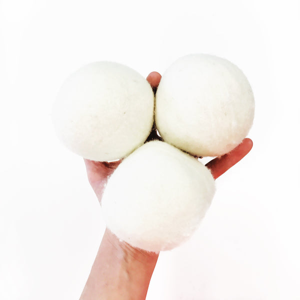 100% Wool Dryer Balls made by Ovella Wool: Cream