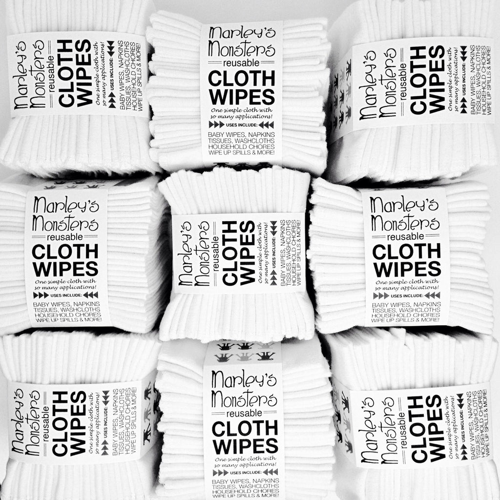 24 CLOTH WIPES: White