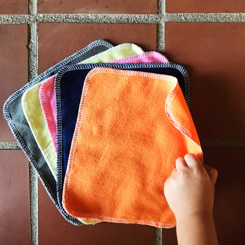 6 CLOTH NAPKINS: Fall Solids