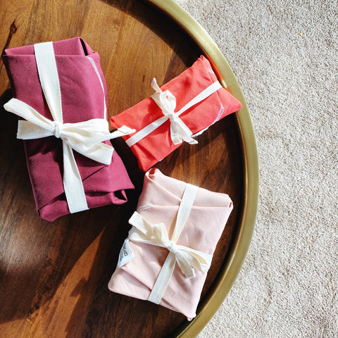REUSABLE GIFT WRAP BUNDLE: Linen