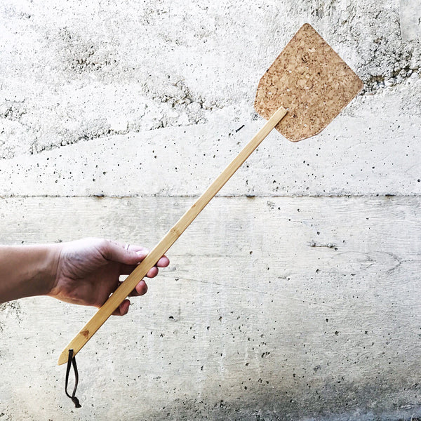 BAMBOO/CORK FLY SWATTER