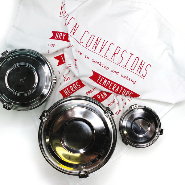 NESTED CONTAINERS + CONVERSIONS TEA TOWEL SET