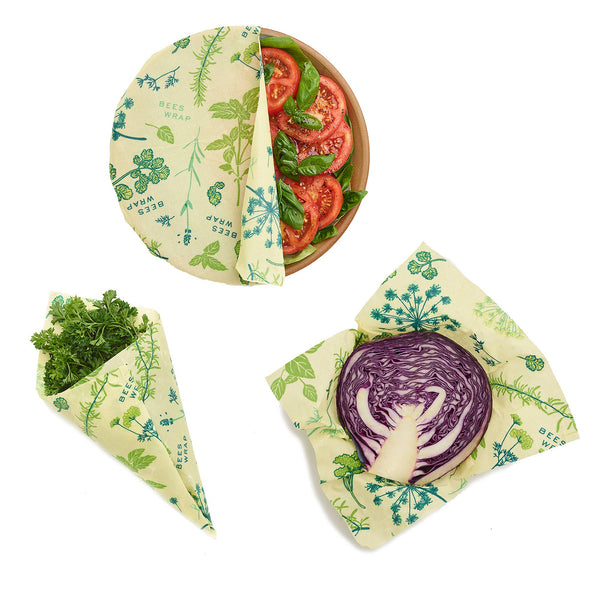 PLANT BASED FOOD WRAP: 3-Pack
