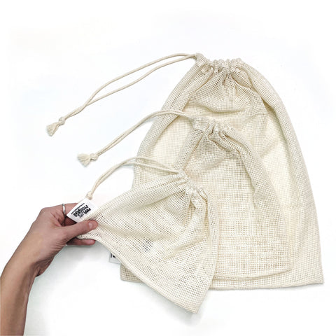 MESH PRODUCE BAGS: Organic Cotton