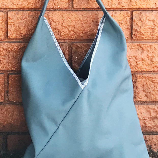 *DISCONTINUED* MARKET TRIANGLE TOTE: Solid Canvas 1