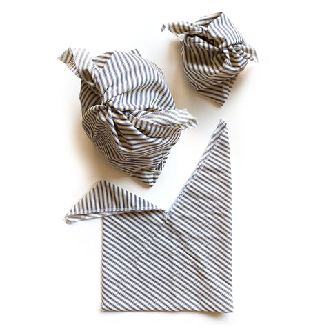 BENTO BAG BUNDLE: Striped Cotton Ticking
