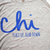 A tank top for the female sports fan. This is for the fan of the Chicago Bears, Chicago Blackhawks, and Chicago Cubs.